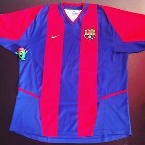 Fc barcelone 2002/2003 maillot jersey shirt trikot maglia
