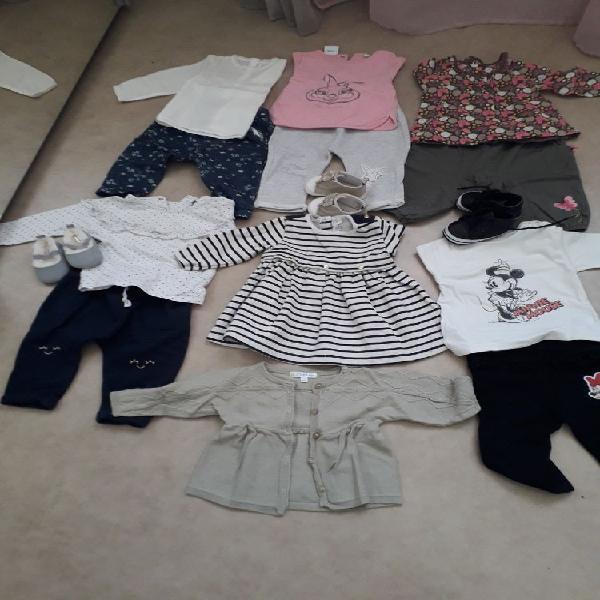 Lot de vêtements bébé fille 6 mois neuf, aubagne (13400)
