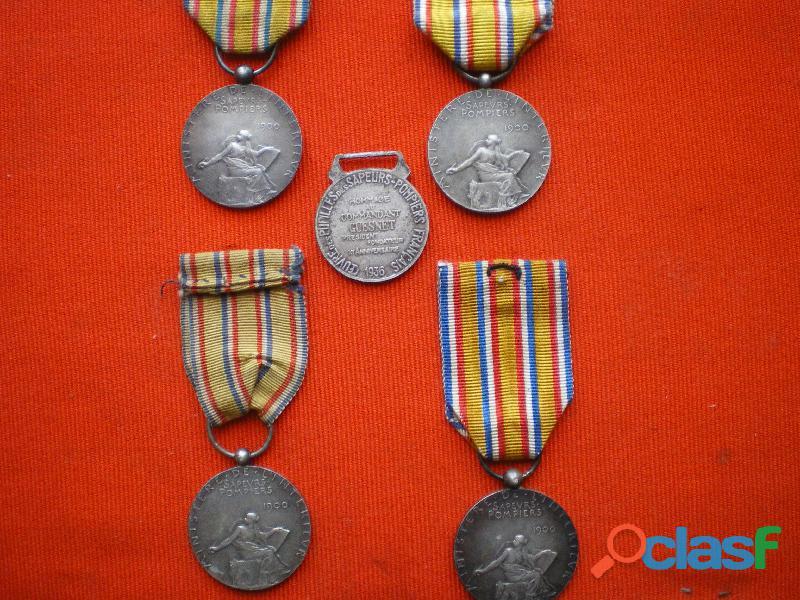 Médailles d'honneur des Sapeurs Pompiers 1900 1