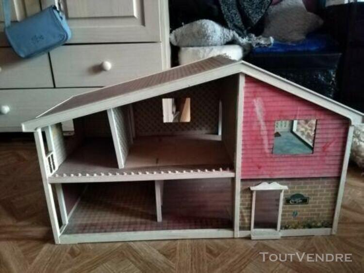 Ancienne maison de poupées vintage de collection