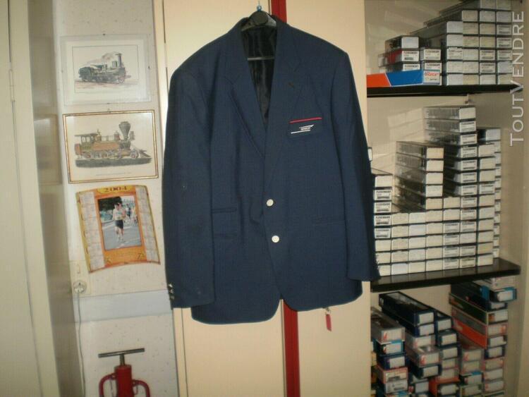 Ancienne veste 2 boutons d'agent de gare de chemin de fer