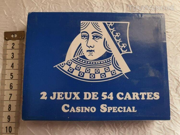 Cartes à jouer casino special 2 x 54 cartes neufs jeux card