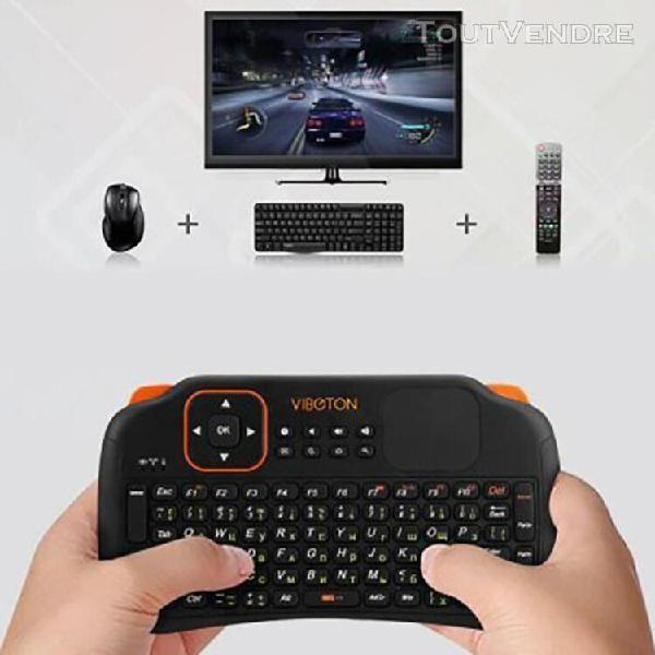 Russe 2.4ghz clavier sans fil air mouse télécommande avec