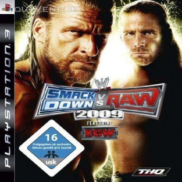 Wwe smackdown vs. raw 2009 [import allemand] [jeu ps3]