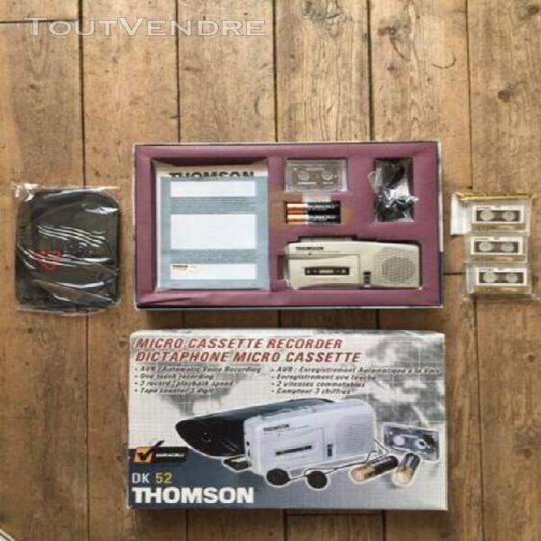 Dictaphone micro cassette thomson dk 52
