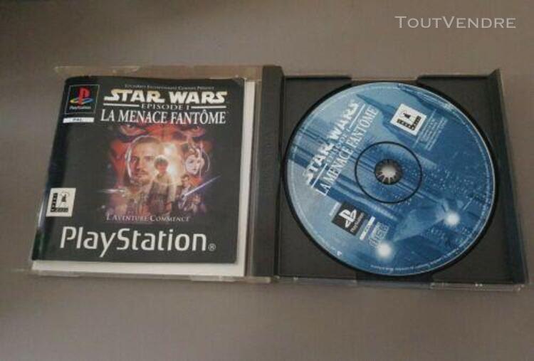 Jeu playstation ps1 - star wars épisode 1 la menace