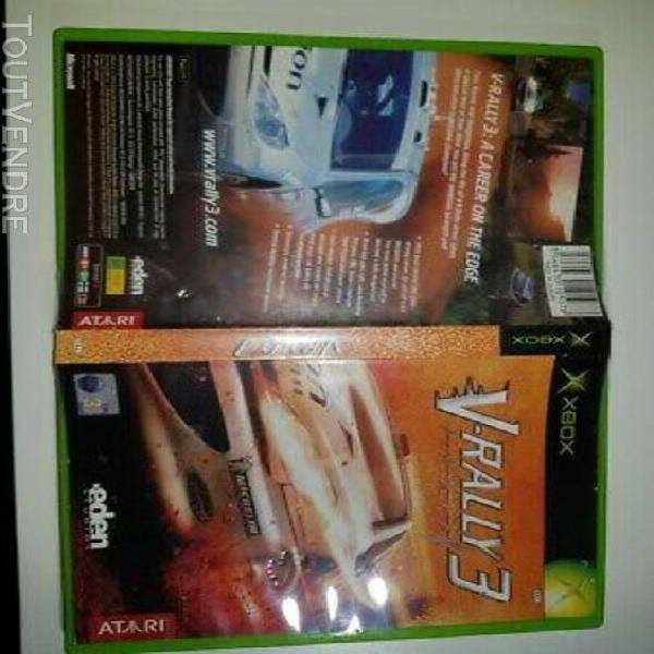 Jeux video game microsoft xbox v-rally 3