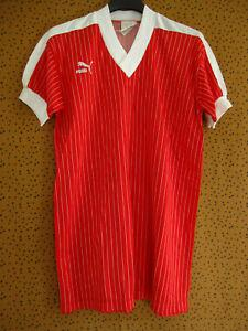 Maillot puma rouge et blanc 80's made in france jersey