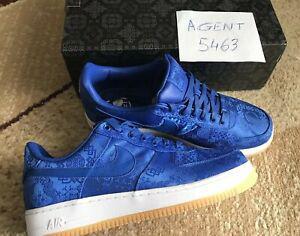 Nike air force 1 prm clot blue silk / taille us 11 - fr 45 /