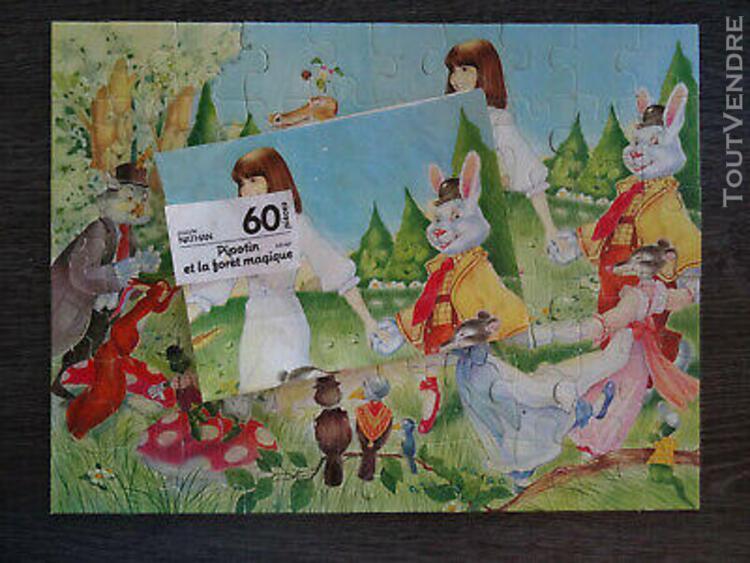 Puzzle nathan - 60 pièces - pipotin et la forêt magique