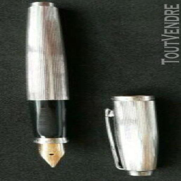 Stylo plume parker 75 ie plaque argent plume or 18k made i