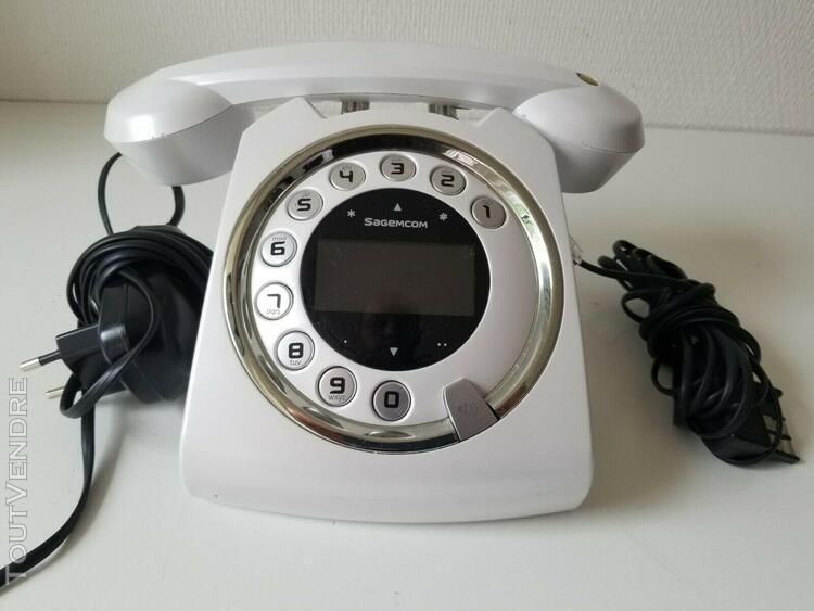 Telephone sixty sagemcom sans fil blanc