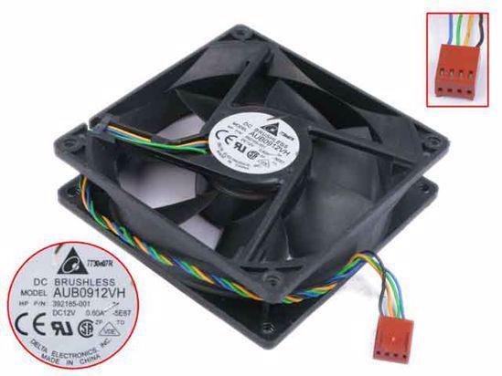 Ventilateur boîtier noir - delta aub0912vh -92mm -