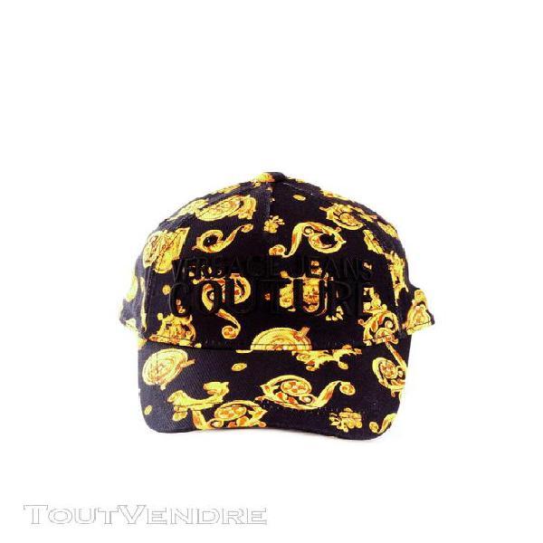 Versace jeans couture chapeaux base-ball unisexe noir