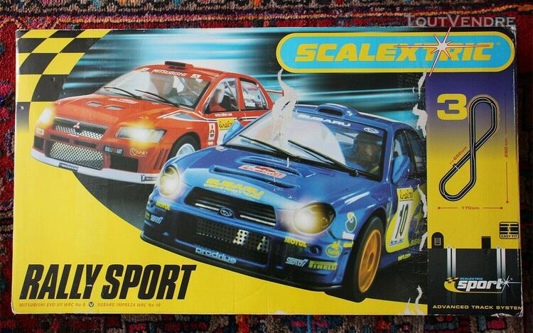 Circuit scalextric n°3 rally sport - complet avec 2