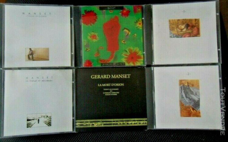 Gerard manset lot de 6 cd