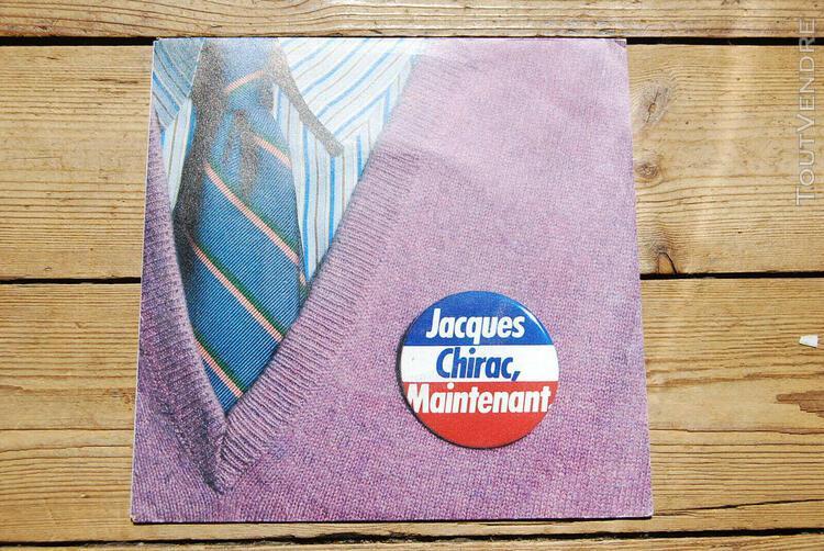 Jacques chirac - maintenant - 45 tours - p. stive