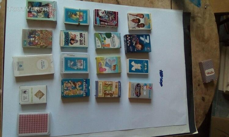 Lot 17 jeux de 7 familles diverses pub nathan fees foot com