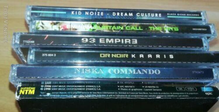 Musique rap fr trap niska ntm eminem us cd lot compile kid n