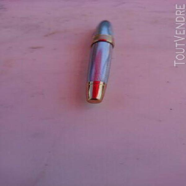 Stylo plume, fountain pen, cross, guilloche argent, excellen