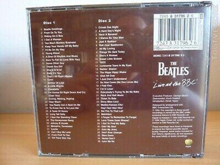 The beatles - live at the bbc - 2 cd's album - 1994 - 69 tra