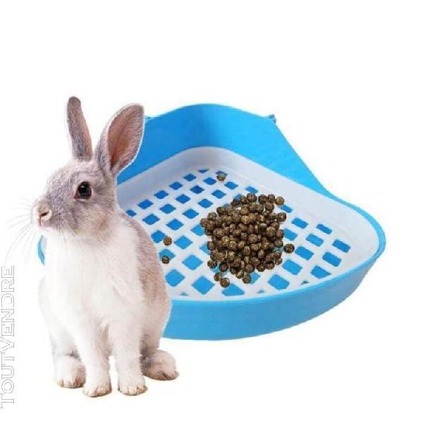Toilette lapin bac à litière, petit animal coin toilette