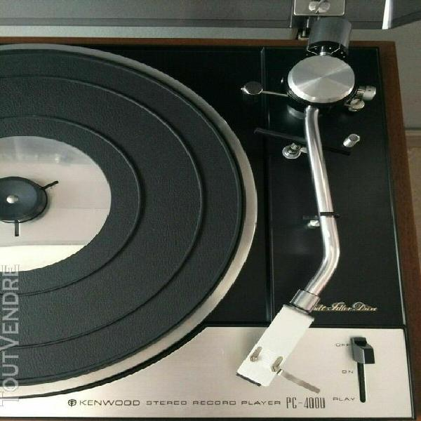 Tres rare platine vinyle kenwood pc-400u révisé en ttbe