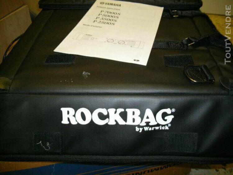 Amplificateur yamaha p2500s avec son rack sacoche rockbag