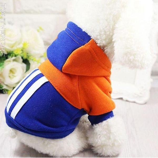 Animaux doux hiver chaud vêtements pour chiens sweats à