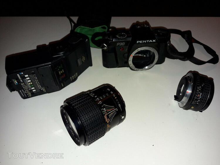 Appareil photo argentique pentax p30 et 50mm pentax f2/22