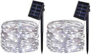Bolweo guirlande lumineuse solaire,5m 50led guirlande