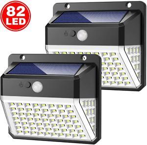 Lampe solaire extérieur, yacikos 82 led [2000mah-2 pack]