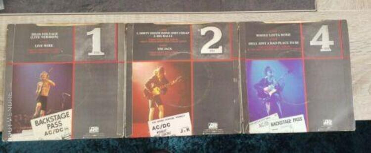 "Ac/dc lot 3 singles 7"" - no promo"
