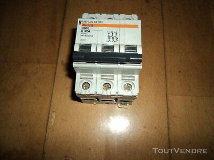 Disjoncteur multi 9 merlin gerin c60l k32a 415v ref 25507