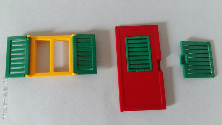 Playmobil lot porte volet fenêtre maison du père noël ou