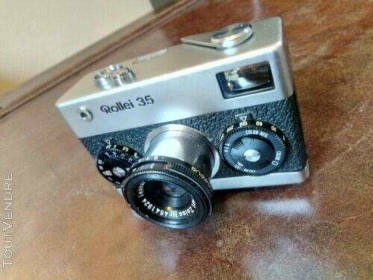 Rollei 35 made in germany 1968 + accessoires + boite + papie