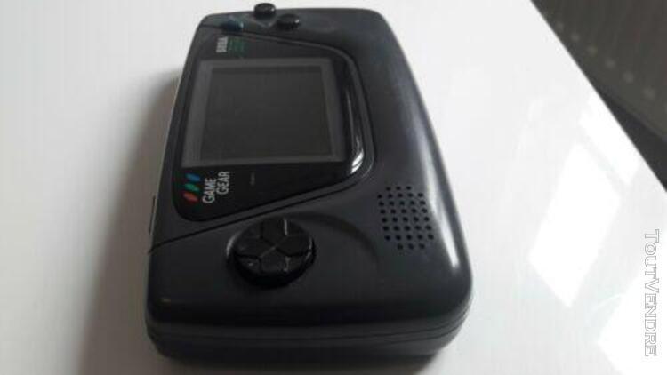 Sega game gear + 2 jeux - console fonctionnelle - condensate
