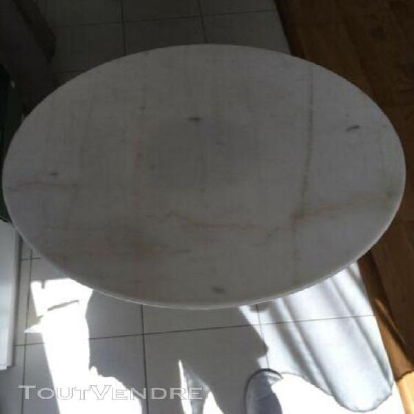 table bistro ronde en marbre