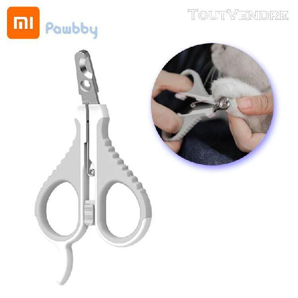 Xiaomi pawbby animaux coupe-ongles en acier inoxydable toile