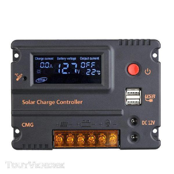 10 a 12v 24v lcd charge solaire contrôleur panneau batterie