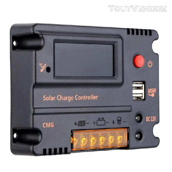 20a 12v 24v lcd contrôleur de charge solaire régulateur de
