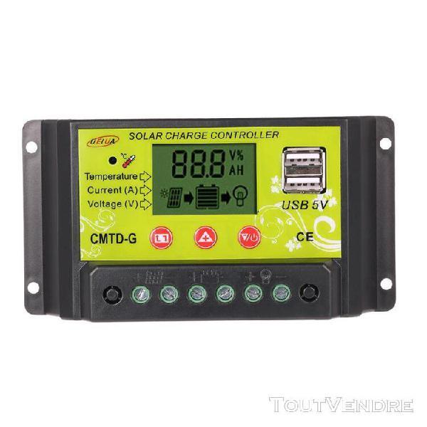 20a 12v / 24v multi-fonctionnelle pwm contrôleur de charge