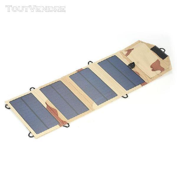 7w 5v usb port chargeur de panneau solaire pliable chargeur