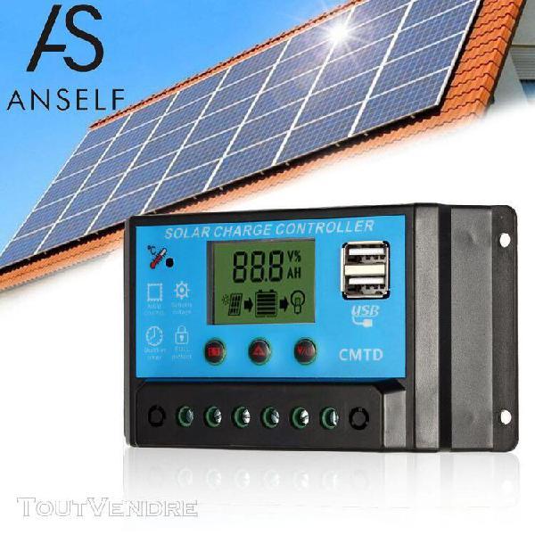 Anself 10a 12.6v lcd chargeur de charge solaire régulateur