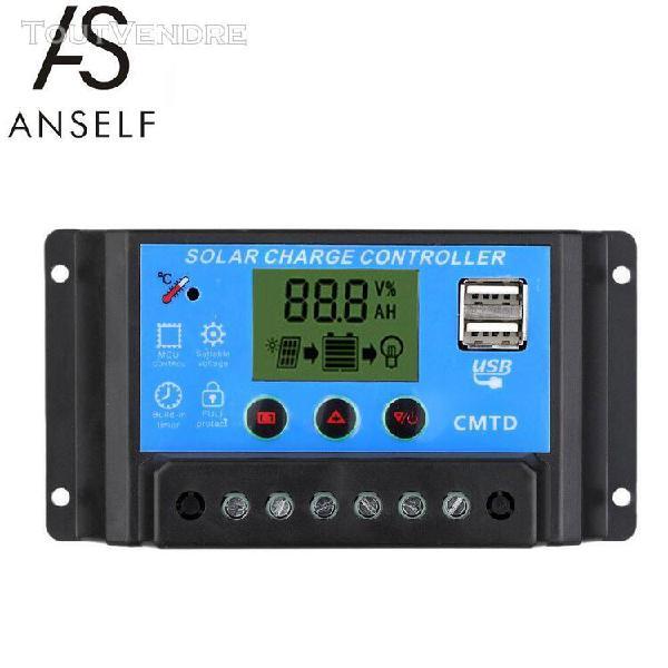 Anself 10a 12v/24v contrôleur de charge solaire avec ecran