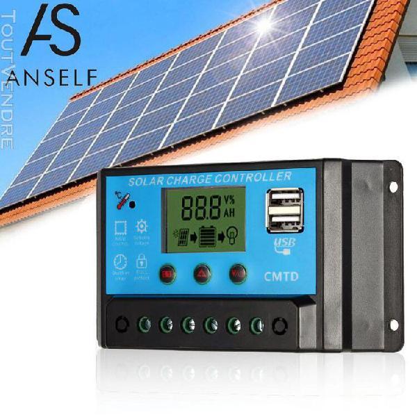 Anself 20a 12.6v lcd chargeur de charge solaire régulateur