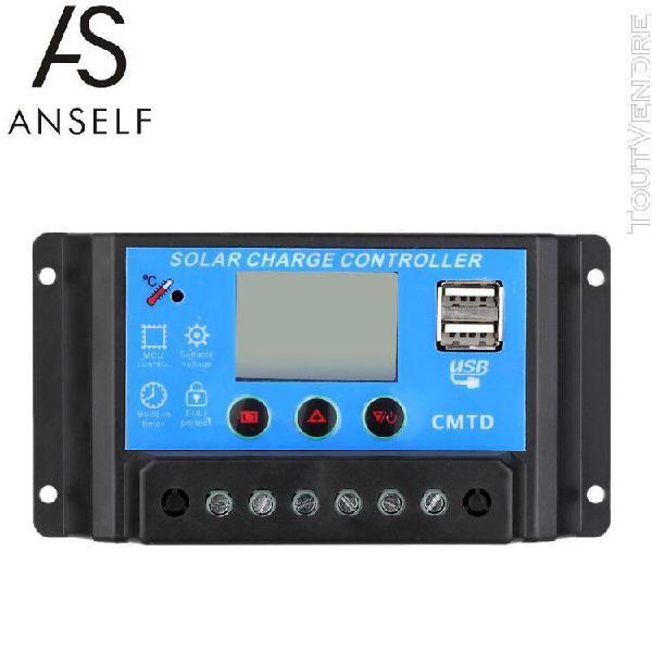 Anself 20a 12v/24v contrôleur de charge solaire avec ecran