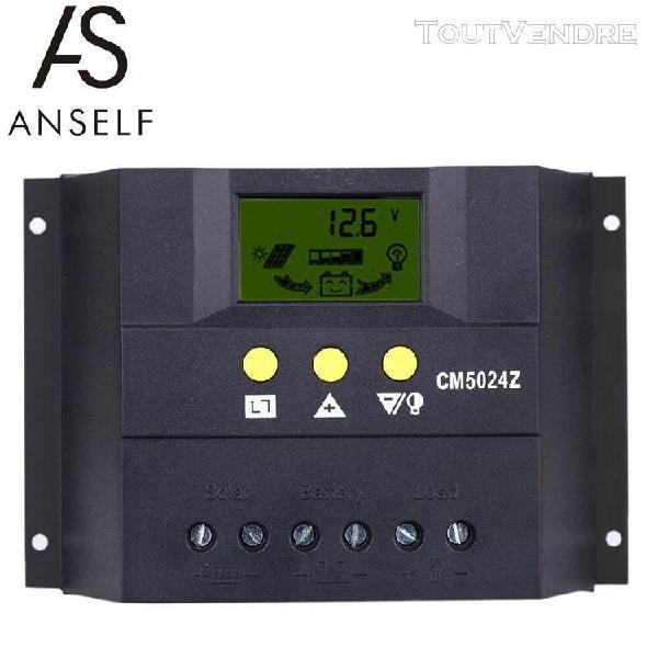 Anself 50a 12v / 24v contrôleur de charge solaire pwm