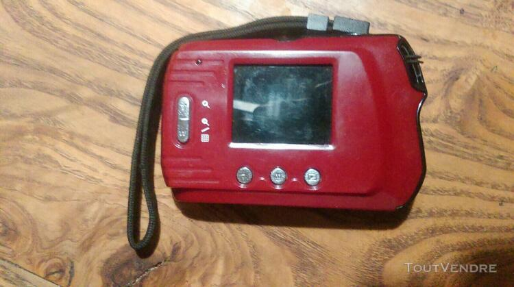 Appareil photos vivitar vivicam 8119 rouge compact 8mp + sd