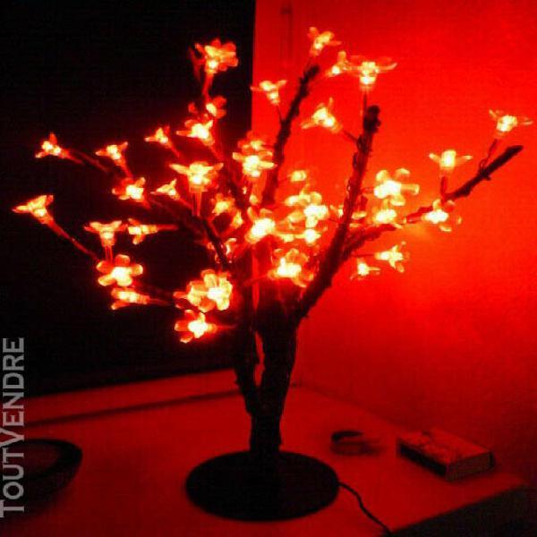 Arbre lumineux led hauteur 50cm fleurs de cerisier rouge
